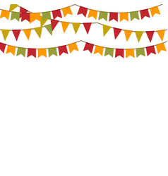 background with garland for autumn holidays vector image