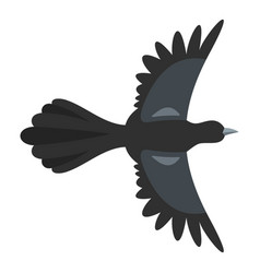 Beautiful magpie icon flat style vector