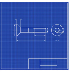 blueprints mechanical engineering drawings of vector image