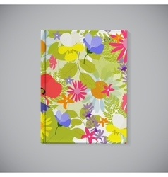 Book Cover Abstract Natural Spring Pattern with vector image