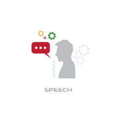 business seminar communication man speaker chat vector image