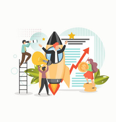 Business startup with new ideas vision growth vector