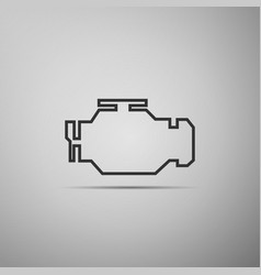 Check engine icon isolated on grey background vector
