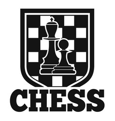 chess emblem logo simple style vector image