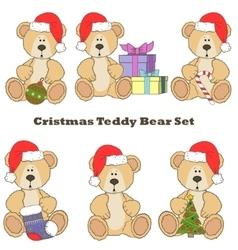 Christmas Teddy bear set vector image