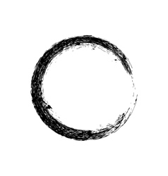 Circle grunge ink spot background vector image