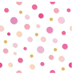 Confetti polka dot seamless pattern background vector