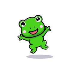 Design cute frog jumping vector