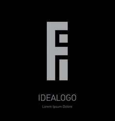 f and i initial logo fi - design element or icon vector image
