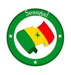 Flag of senegal on a label vector