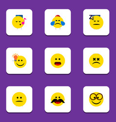 Flat icon gesture set of have an good opinion vector