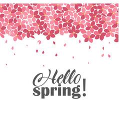 floral frames hello spring vector image