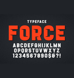 Force heavy display font design swatches color vector