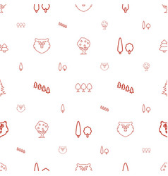 forest icons pattern seamless white background vector image