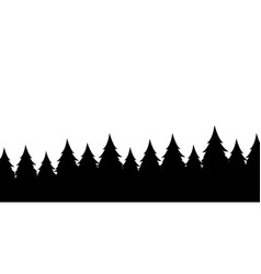 Forest silhouette backgroundview to realistic vector