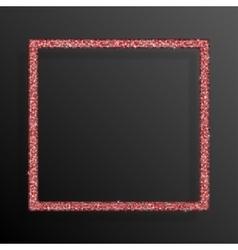 Frame Red Sequins Square Glitter sparkle vector