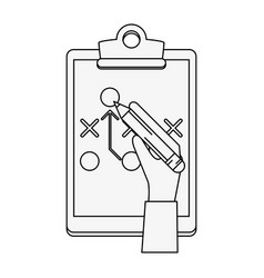 Game plan strategy sport related icon image vector