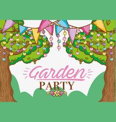 Garden party cartoons vector