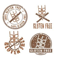 Gluten Free Stamps vector