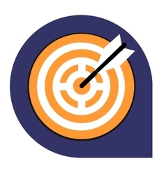 Goal or target icon of set tricolor vector