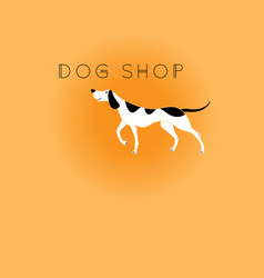 Graphic icon dog vector