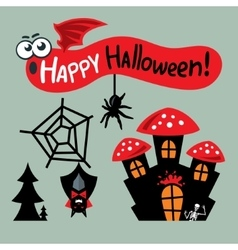 Happy Halloween Concept Cartoon vector image