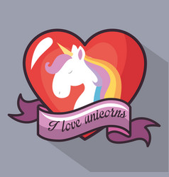 i love unicorns design vector image