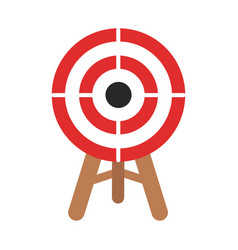 Icon target in flat design stock vector