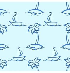 island ships vector image