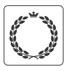 Laurel wreath icon crown flat vector