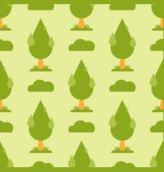 leaves green trees seamless pattern vector image