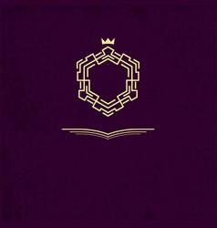line frame monogram vintage logos design vector image