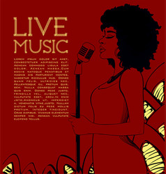 Live music concert poster vector