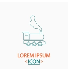 Locomotive computer symbol vector
