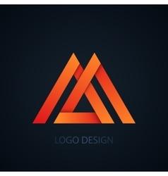 logo letter m vector image