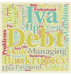 Long Term Debt Problems text background wordcloud vector