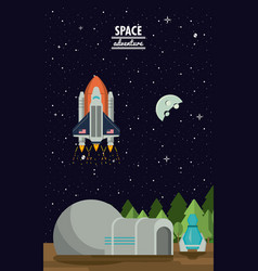 Mars space adventure vector