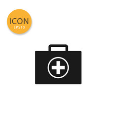 medical bag icon isolated flat style vector image