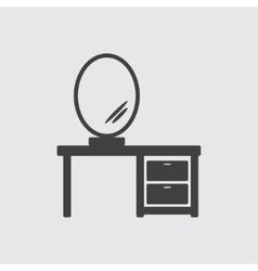 Mirror on tabel icon vector image