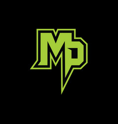 Mp latter logo vector