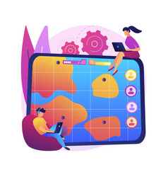 multiplayer online battle arena abstract concept vector image