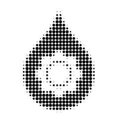 oil industry gear halftone dotted icon vector image