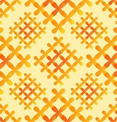 Orange crosses seamless pattern - abstract vector