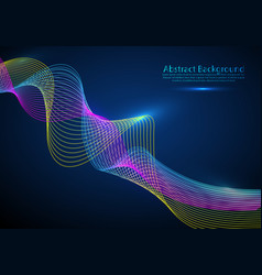 particle flow abstract background sound wave data vector image