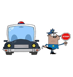 Police traffic stop cartoon vector