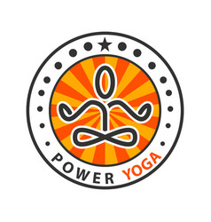 power yoga - meditation vector image