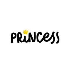 Princess power shirt quote lettering vector