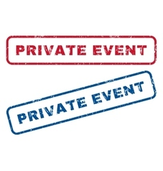 Private Event Rubber Stamps vector image