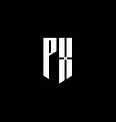 px logo monogram with emblem style isolated on vector image