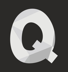 Q low poly wrapping surface alphabet letter vector